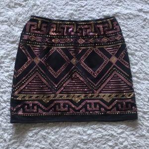 Dresses & Skirts - Peachpuff Sequined Skirt Size M